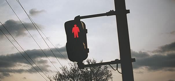 赤信号の画像